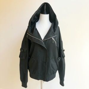L.A.M.B.   Hooded Utility Jacket   Black   12